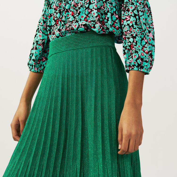 Falda larga plisada : Faldas y shorts color VERT