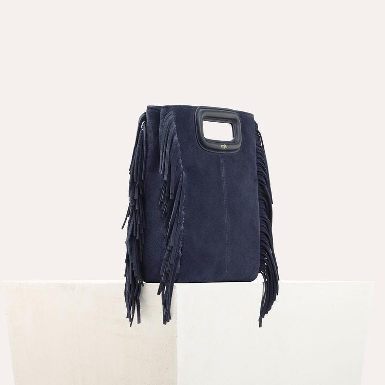 Bolso M de cuero de gamuza : Bolsos M color Azul Marino