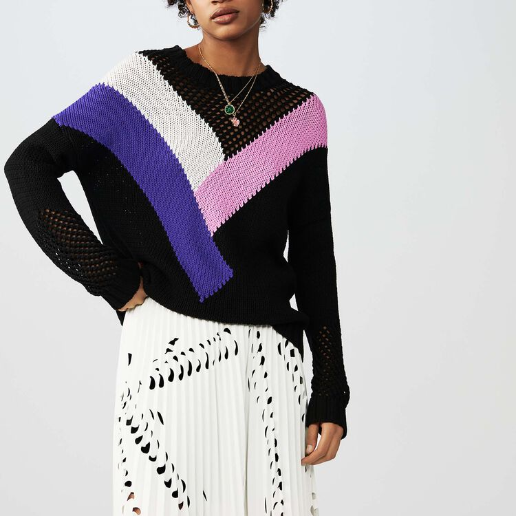 Jersey oversize con detalles : Malla color Negro