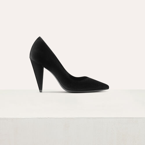 High heals suede shoes : Zapatos color Negro