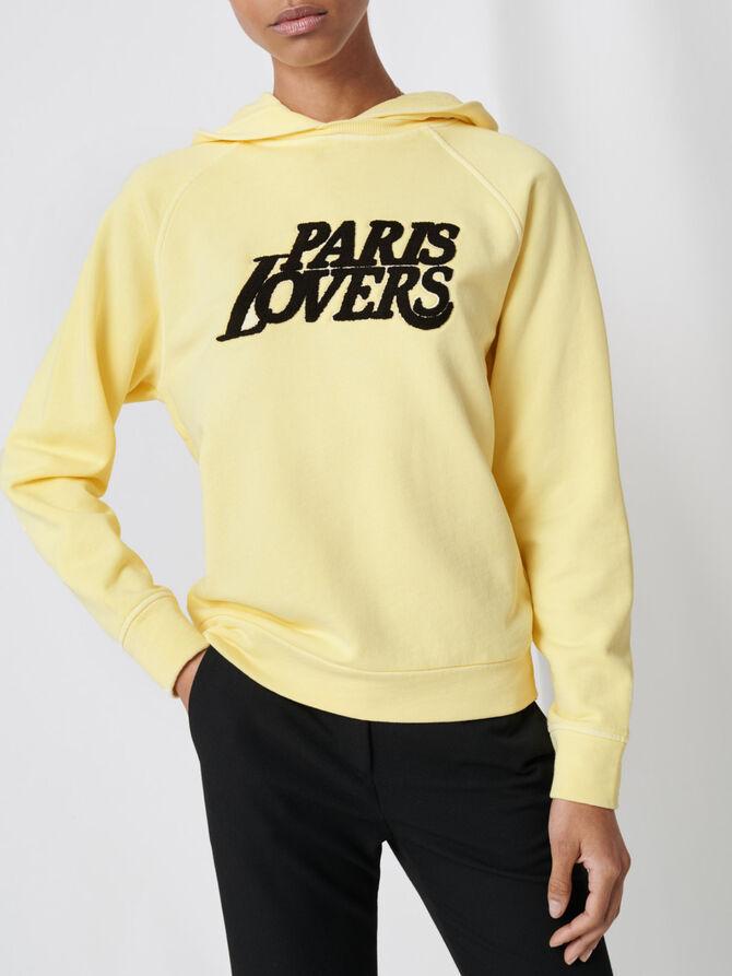 Sudadera amarilla bordada - Jerseys y cárdigans - MAJE