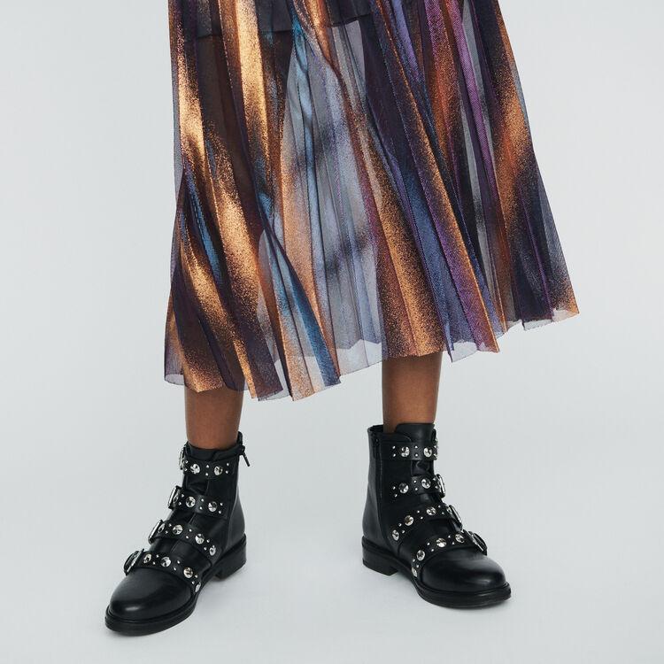 Falda larga plisada e iridiscente : Faldas y shorts color Multicolor