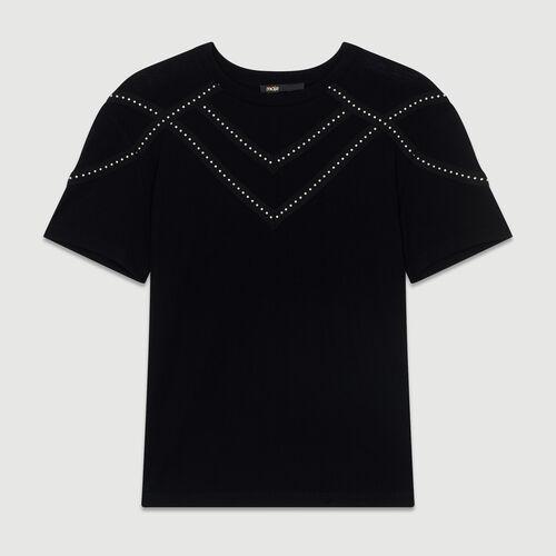 Camiseta loose con tachuelas : Toda la colección color Negro