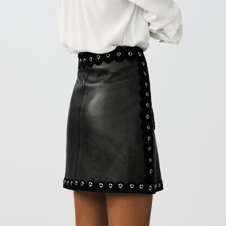 Falda de cuero : Faldas y shorts color Negro