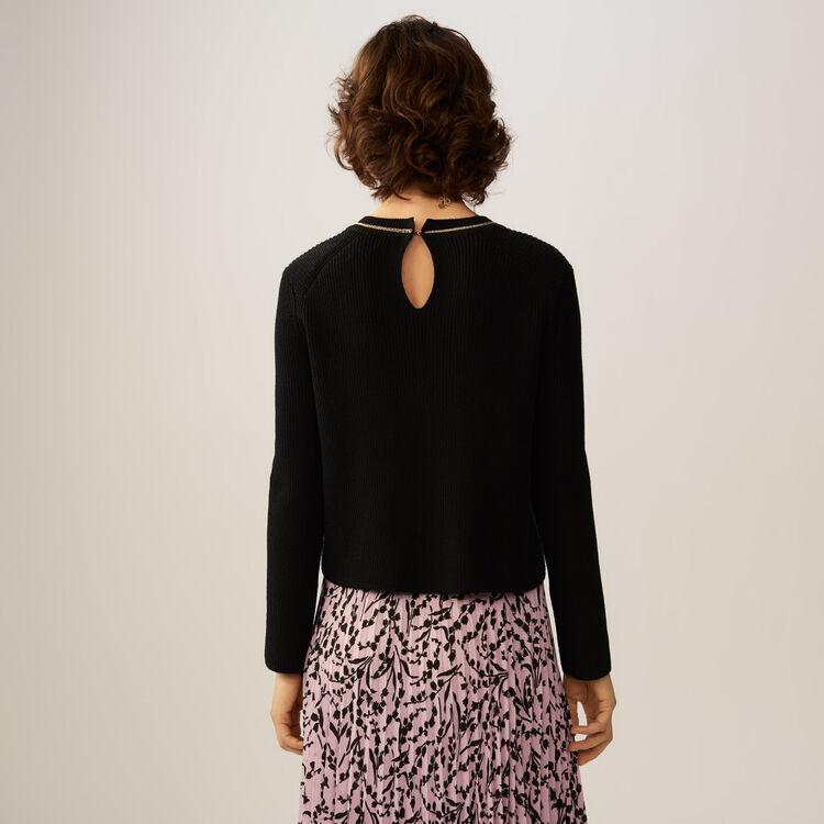 Jersey fino en algodon mezclado : staff private sale color Negro
