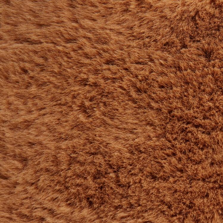 Mini-bolso M en cuero y piel fantasía : M Mini color Beige