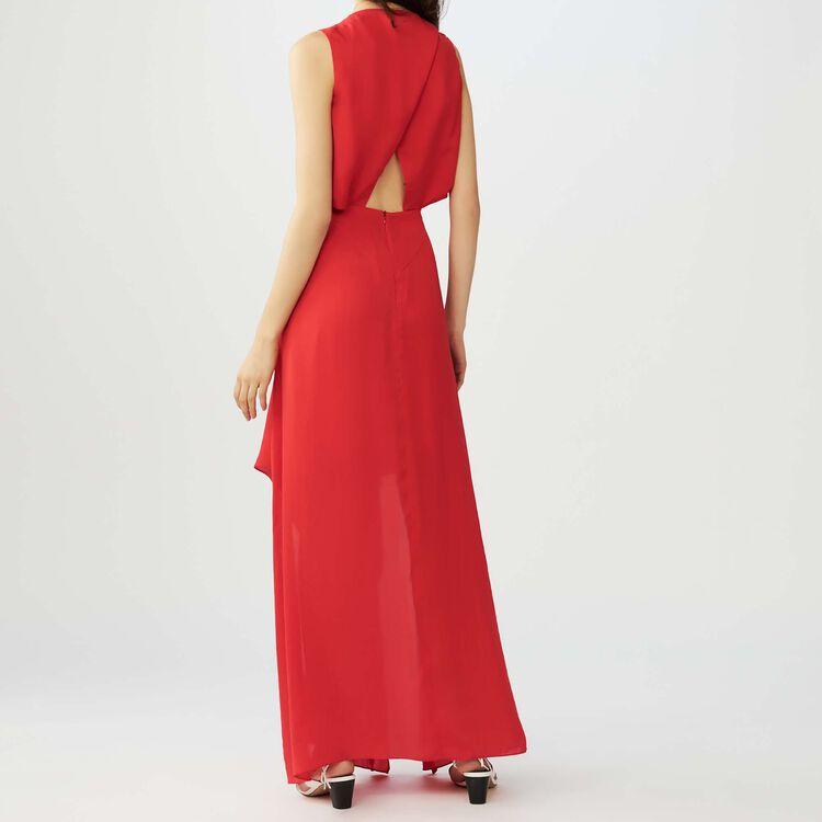 Vestido largo sin mangas : Vestidos color Rojo