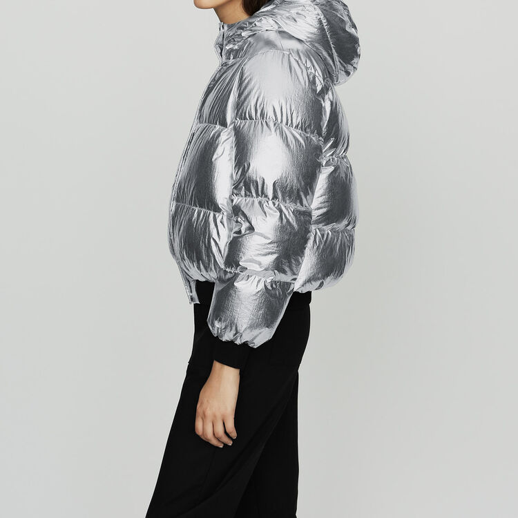 Chaqueta de plumón en Nylon Crinkle : Abrigos color Plateado