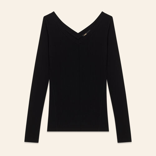 Tee-shirt en jersey : Malla color Negro