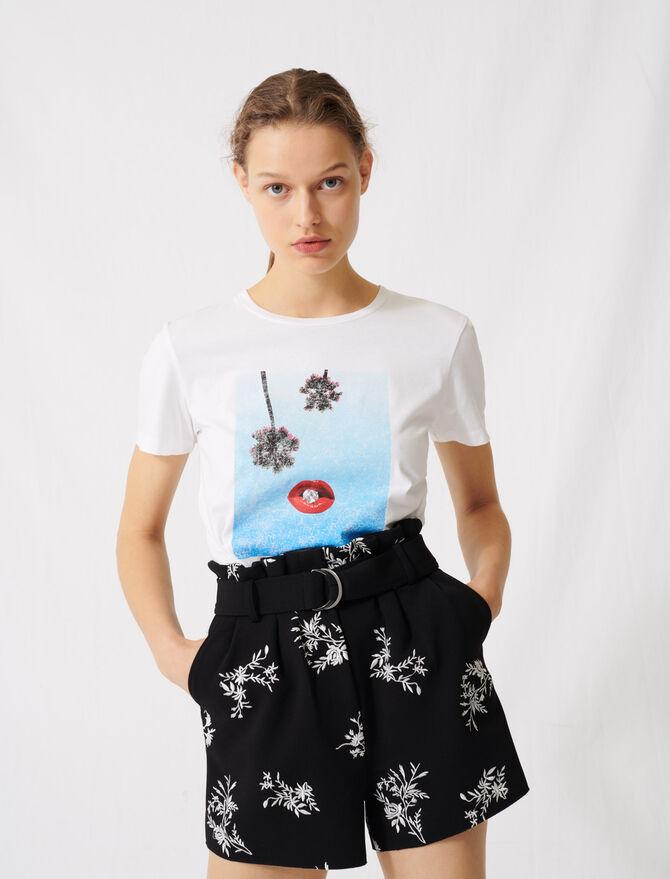 Camiseta blanca serigrafiada - Toda la colección - MAJE