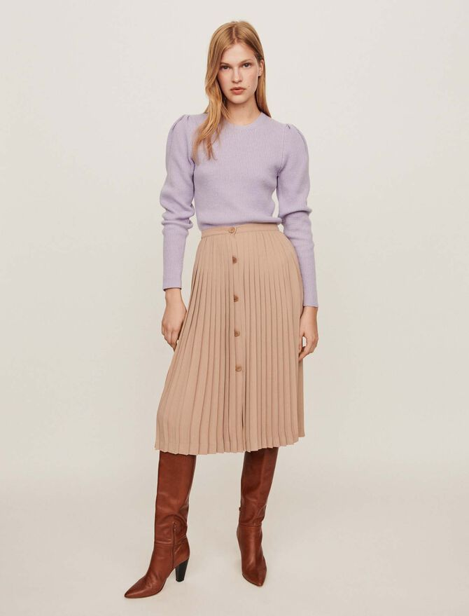 Falda plisada abotonada - Faldas y shorts - MAJE