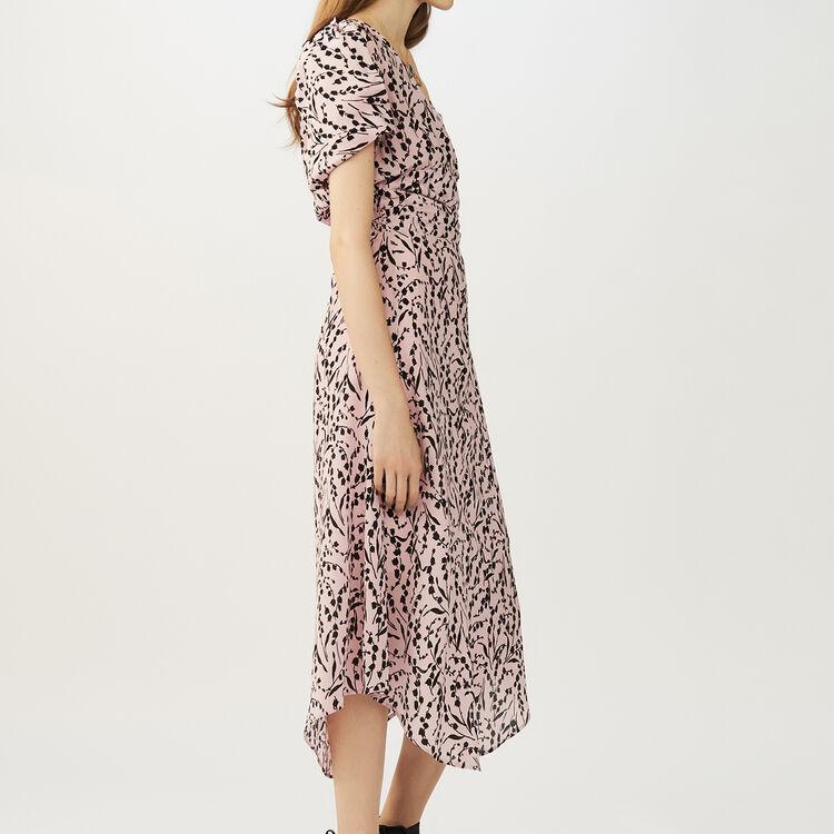 Vestido largo de seda estampada : Vestidos color IMPRIME