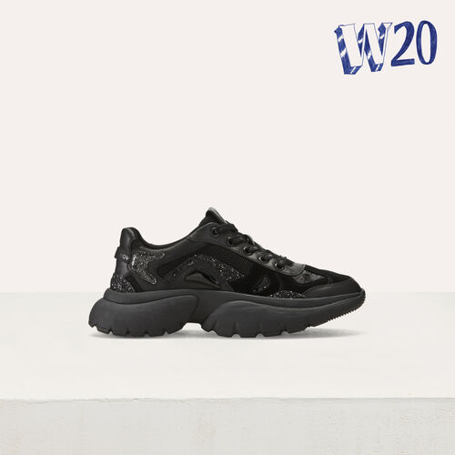 Sneakers W20 urbanas de cuero : Sneakers color Negro
