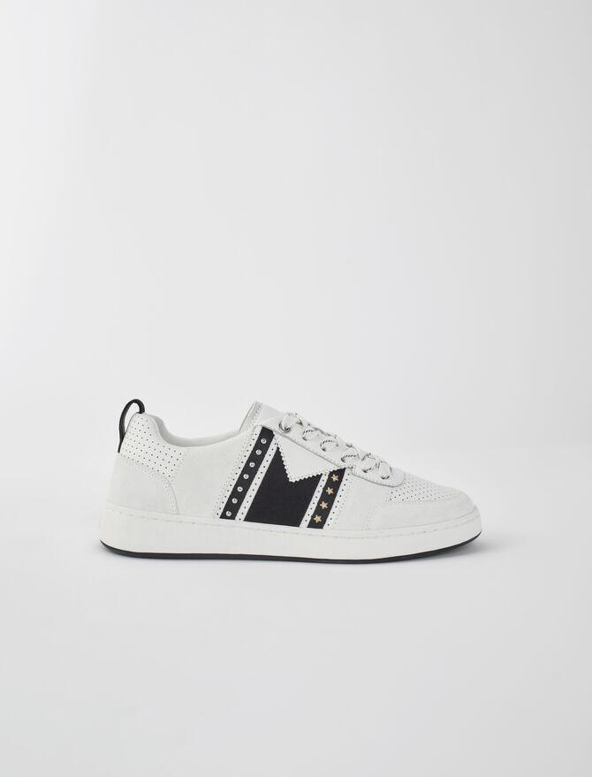 Zapatillas de piel dos tonos - Sneakers - MAJE