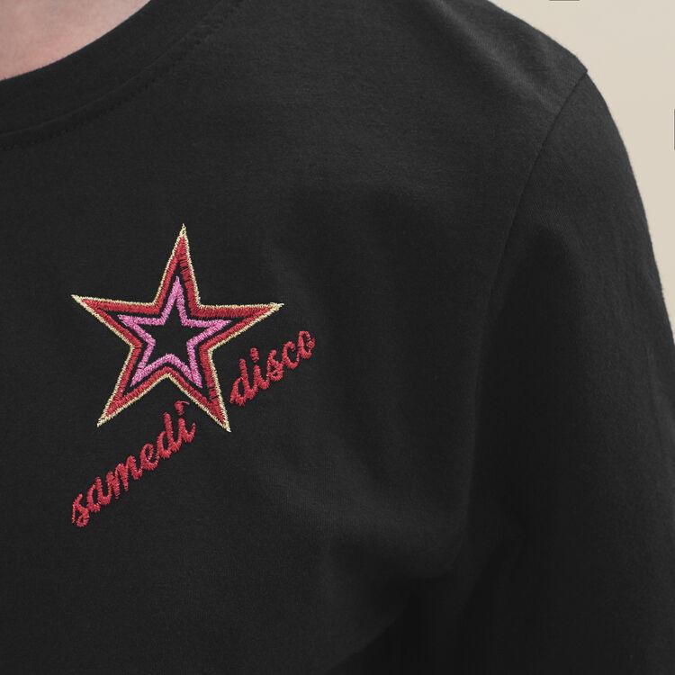 Camiseta bordada Sabato : T-shirts color Negro
