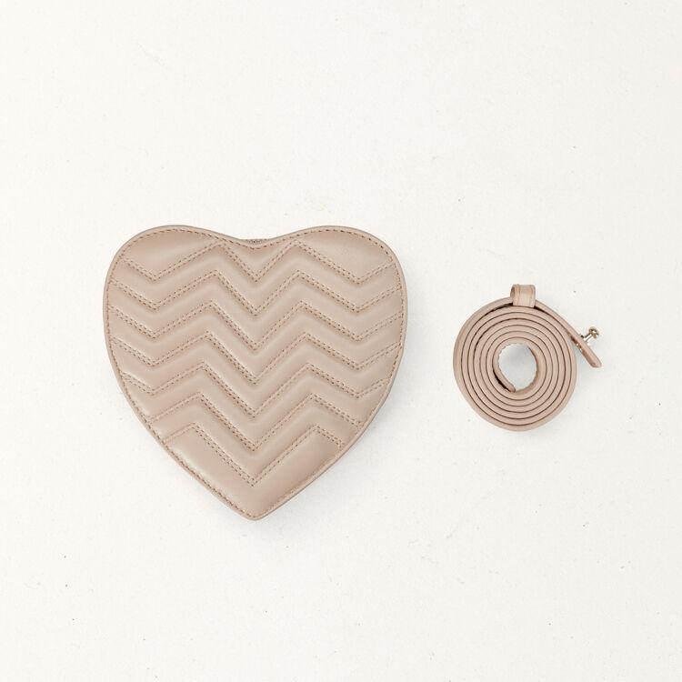 Bolso alforja de corazón : Bolsos Star color Nude