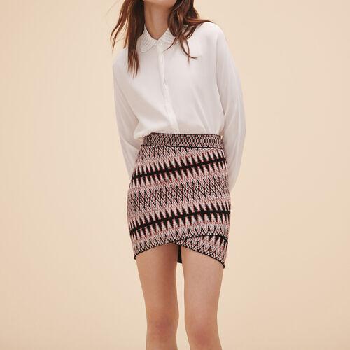 Falda corta de jacquard : Faldas y shorts color Jacquard