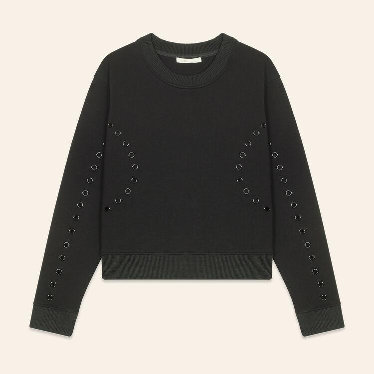 Sudadera con ojales : Jerseys y cárdigans color Negro