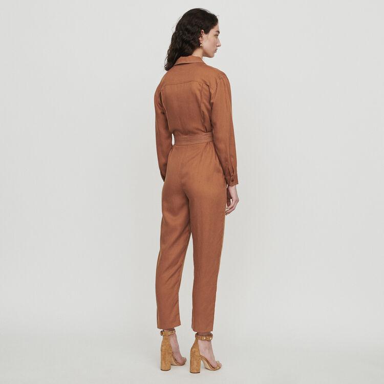 Mono-pantalón camisa : Pantalones y Jeans color Terracota