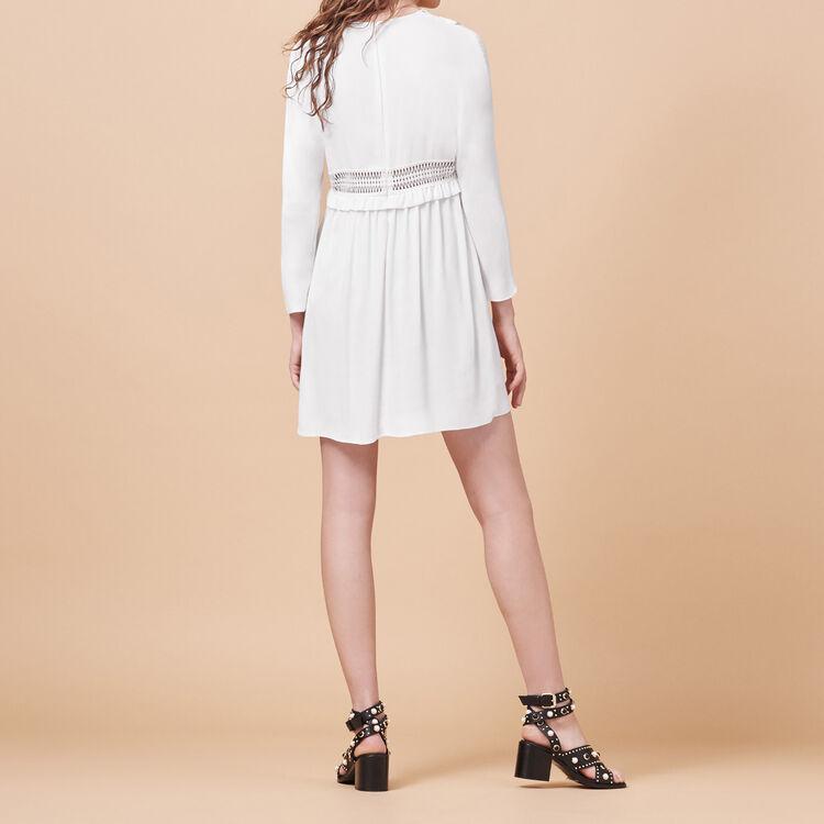 Vestido de crepé con detalles calados - Ver Todo - MAJE