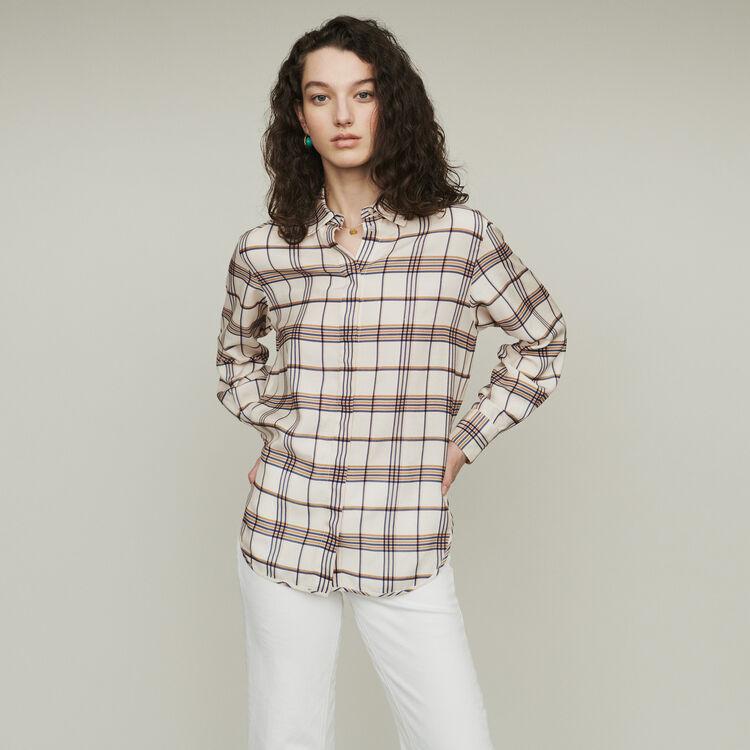 Camisa suelta de cuadros : Tops y Camisas color CARREAUX