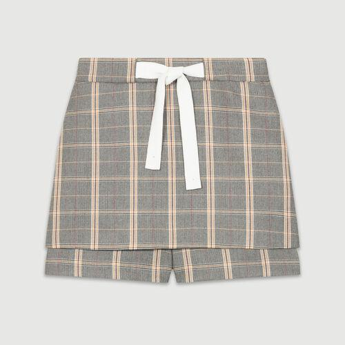 Short a cuadros : Faldas y shorts color CARREAUX