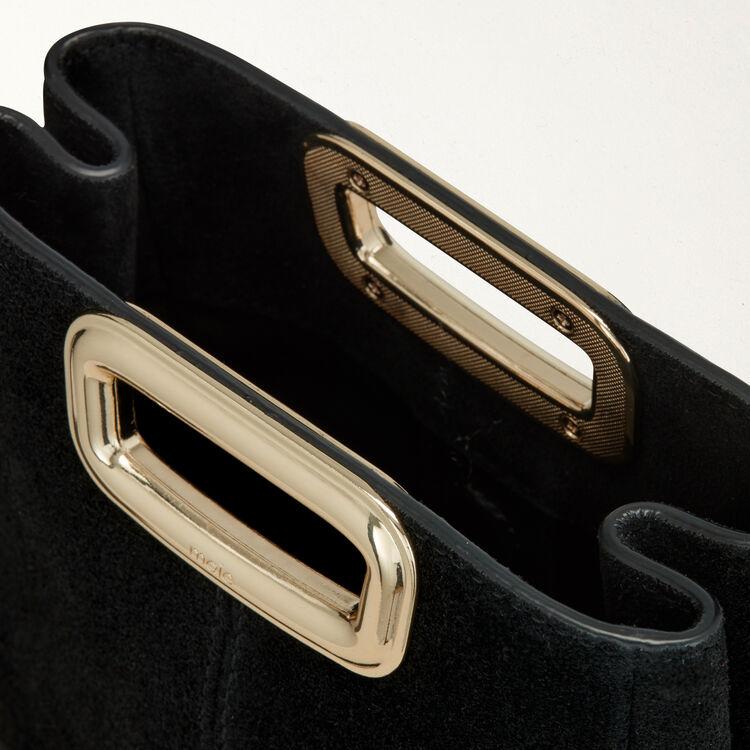 Bolso M Mini Skin en gamuza y metal : M Skin color Negro