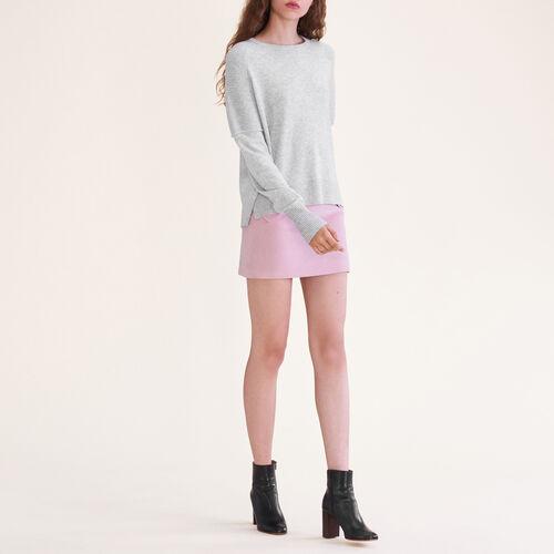 Jersey de cachemira : Malla color Gris Jaspeado