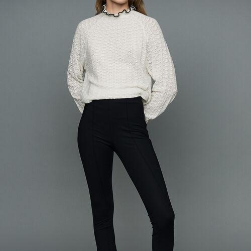 Legging deportivo de tela técnica : Pantalones color Negro