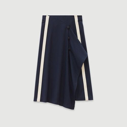 Falda de rayas tennis : Faldas y shorts color Azul Marino