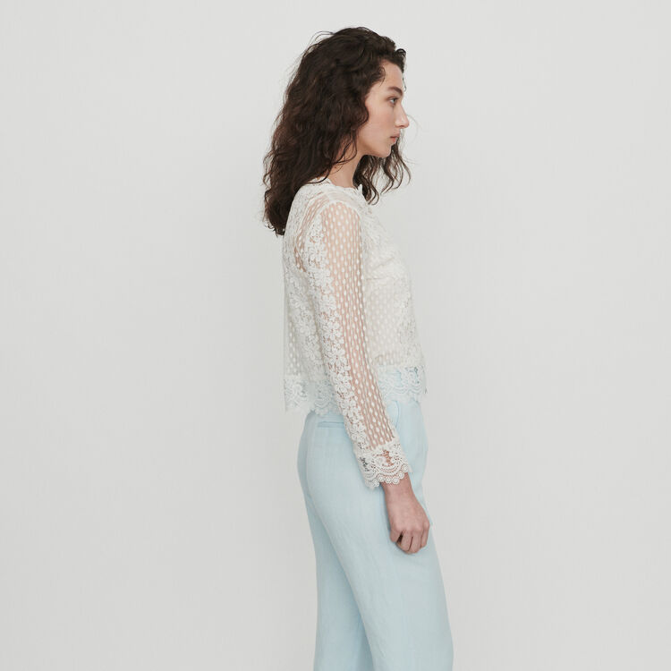 Top de guipur : Tops y Camisas color Blanco