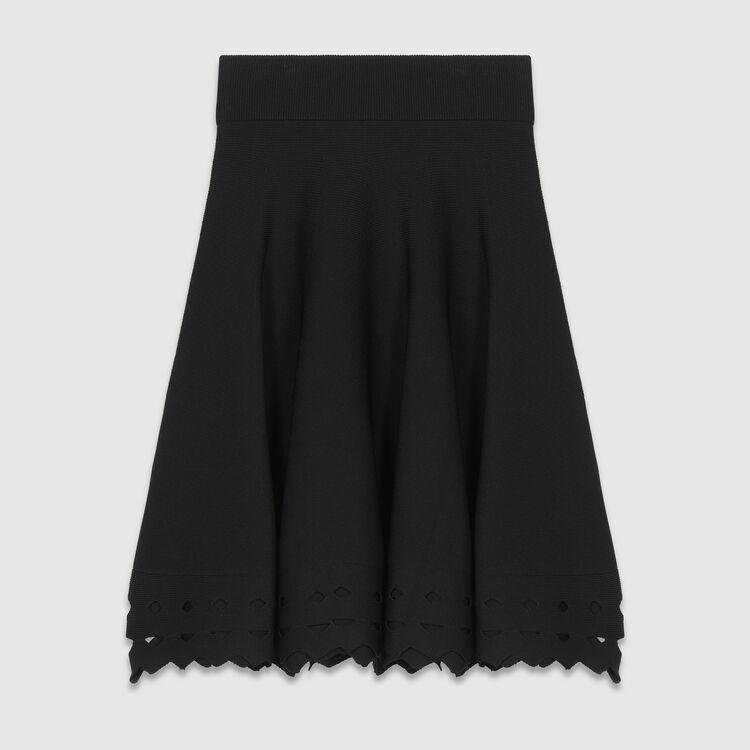 Falda de punto caldao : Faldas y shorts color Negro