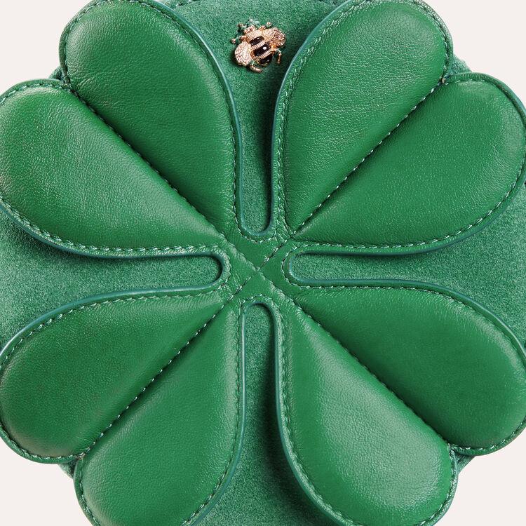 Bolso alfador redondo  con trébol : Ver todo color Verde