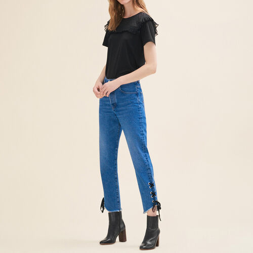 Kurze Jeans im Boyfriend-Schnitt : Pantalones y vaqueros color Azul