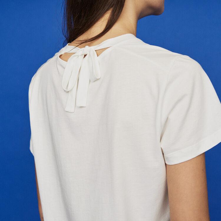 Camiseta con texto bordado : T-Shirts color Blanco