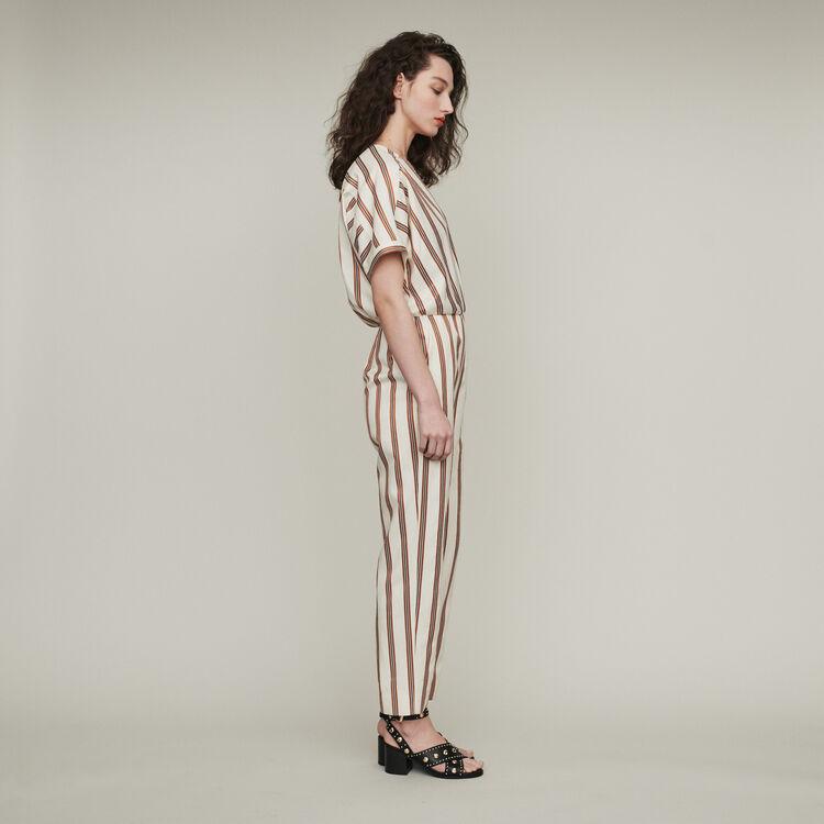 Mono-pantalón a rayas : Pantalones y Jeans color Rayas