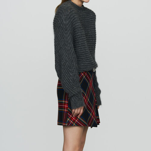 Jersey corto de corte oversize : Prêt-à-porter color Gris