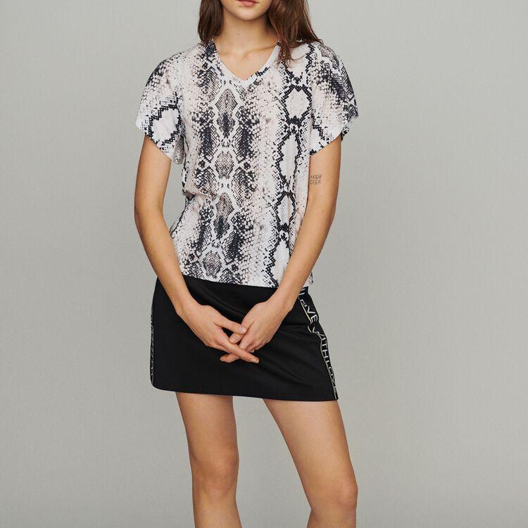 Camiseta con estampado pitón : T-Shirts color IMPRIME