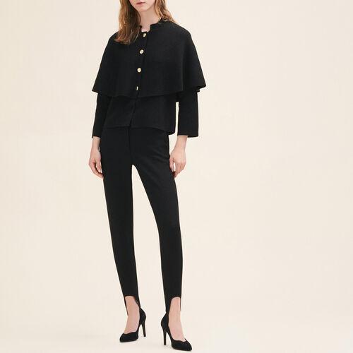 Cárdigan corto tipo capa : Jerseys y cárdigans color Negro