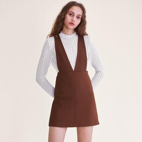 Vestido corto con tirantes : Vestidos color Caramelo