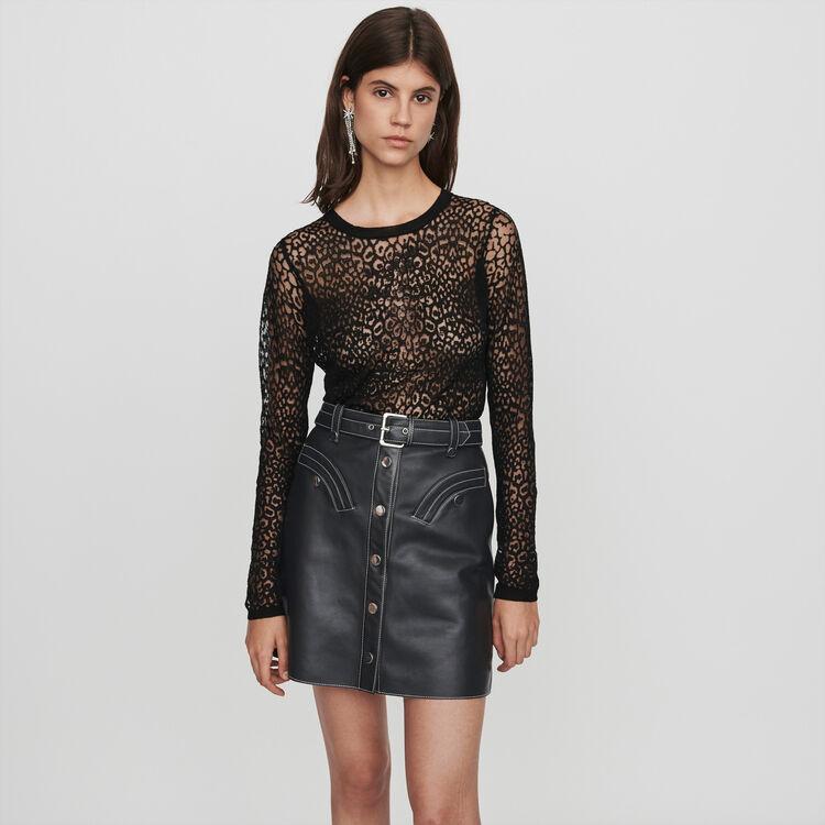 Camiseta devorada : Jerseys y cárdigans color Negro