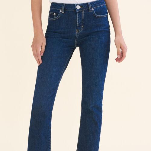 Vaquero 7/8 de algodón stretch : Jeans color Azul