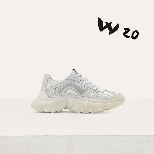 Sneakers W20 urbanos de cuero : Sneakers color Blanco