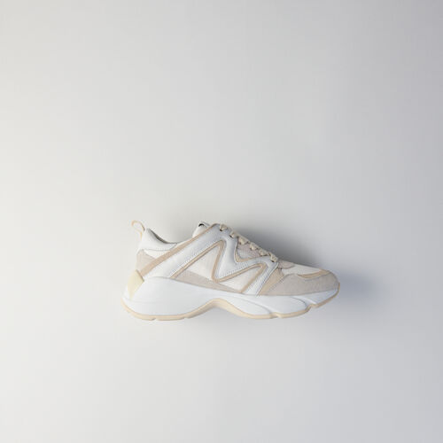 Sneakers W22 en mezcla de materias : Sneakers color Blanco Roto