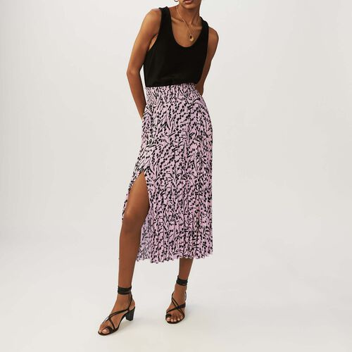 Printed pleated skirt : Faldas y shorts color IMPRIME