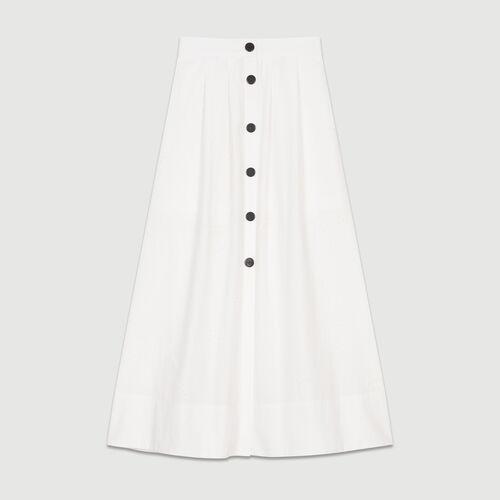 Falda larga con bordados : Ver todo color Blanco