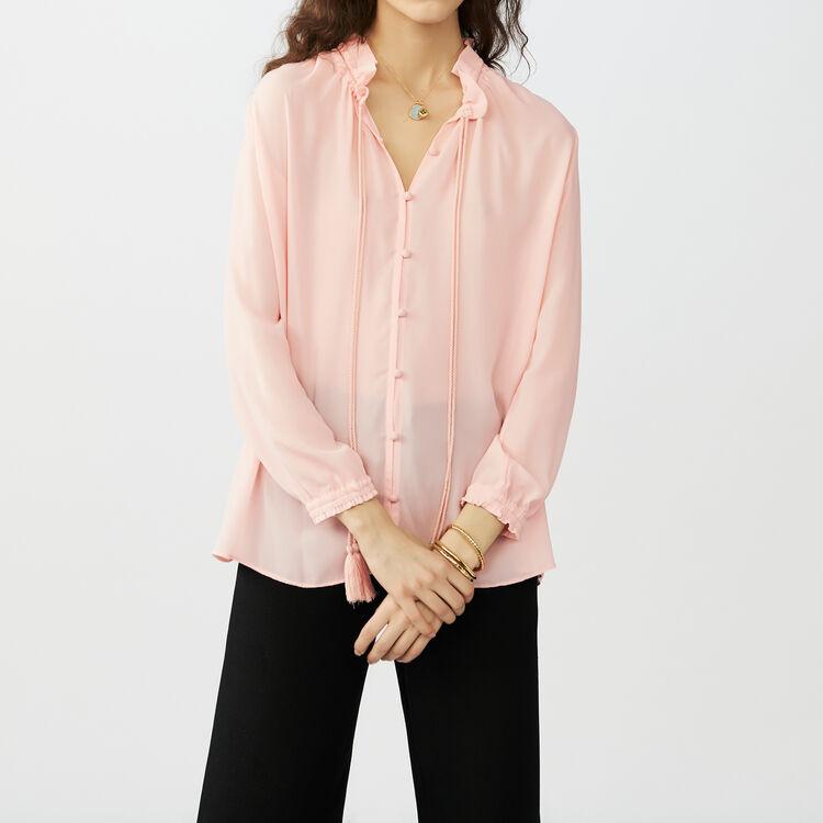 Blusa fluida con cordón : Camisas color Rosa