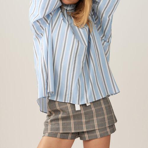Blusa oversize avolantada con rayas : Camisas color IMPRIME