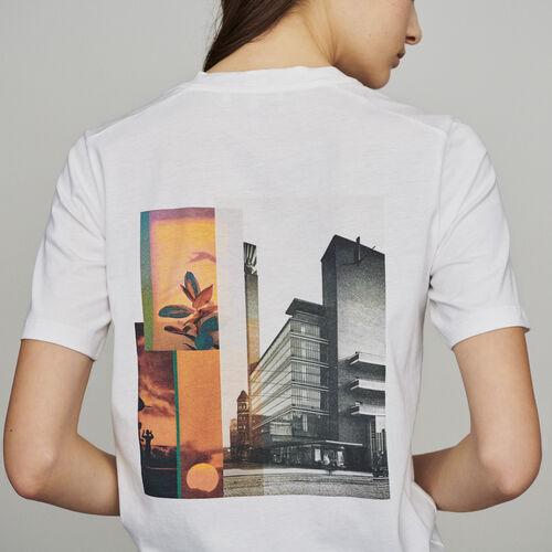 Camiseta con mensaje : New in : Colección Verano color Blanco