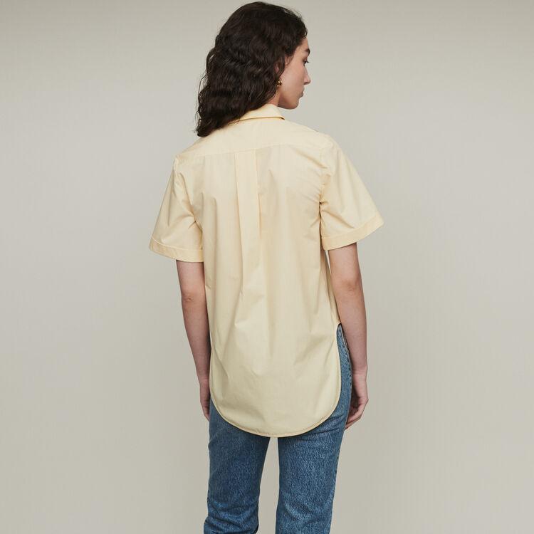 Blusa mangas cortas con bordados : Tops y Camisas color Amarillo